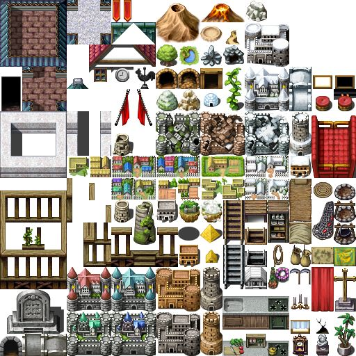 Rpg Maker Vx Custom Tileset: Free Game Sprites And Assets