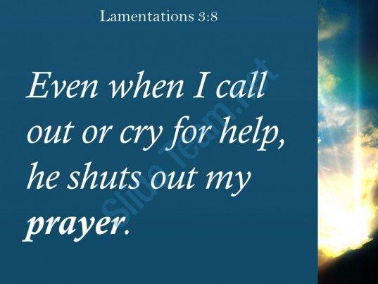 lamentations 3 8 he shuts out my prayer powerpoint church sermon Slide03 http://www.slideteam.net/