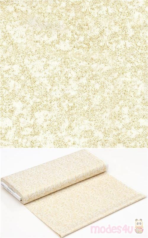 Miller Lights Christmas 2020 light cream Michael Miller fabric with gold metallic design in