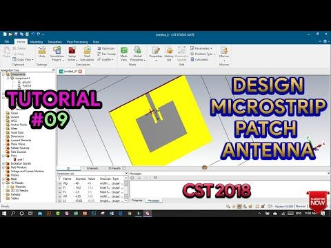 In This Video Tutorial We Will Learn How To Design An Inset Feed Patch Antenna In Cst Studio Suite 2018 Operating Frequency In 2020 Tutorial Antenna Videos Tutorial