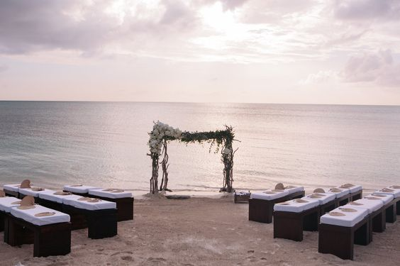 Donna Karan's amazing beach was the setting of our ceremony. Our chuppah was actually in the ocean.: