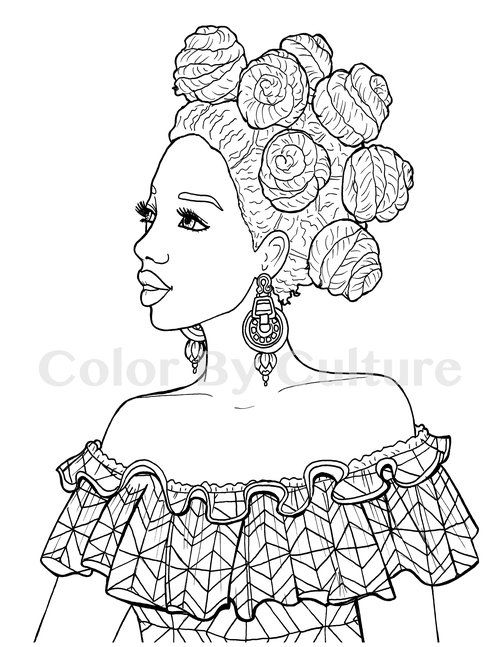 Printable Coloring Book African Fashions Color By Culture Fashion Coloring Book Printable Coloring Book Coloring Books