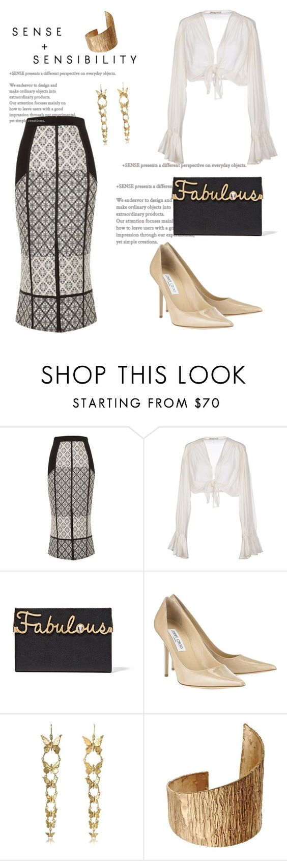 """Untitled #3047"" by janicemckay ❤ liked on Polyvore featuring River Island, Mes Demoiselles..., Charlotte Olympia, Jimmy Choo, Bernard Delettrez and First People First"