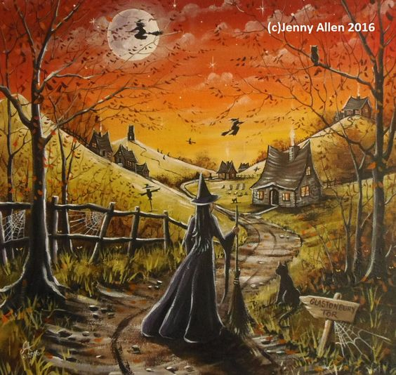 Acrylics Witches And Canvases On Pinterest