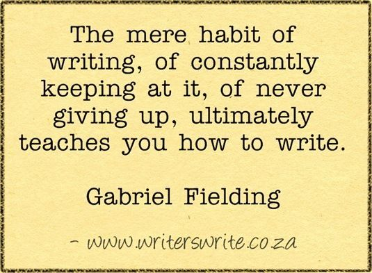 HABIT OF WRITING       ------     Writers Write Creative Blog Needs to be pinned again.