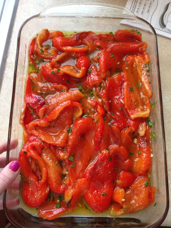 Italian Roasted Red Peppers Donna Rae Pinterest