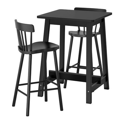 Groovy Norraker Norraryd Bar Table And 2 Bar Stools Black Cjindustries Chair Design For Home Cjindustriesco