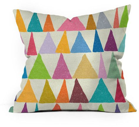 DENY Designs Shapes In Bloom 18x18 Pillow