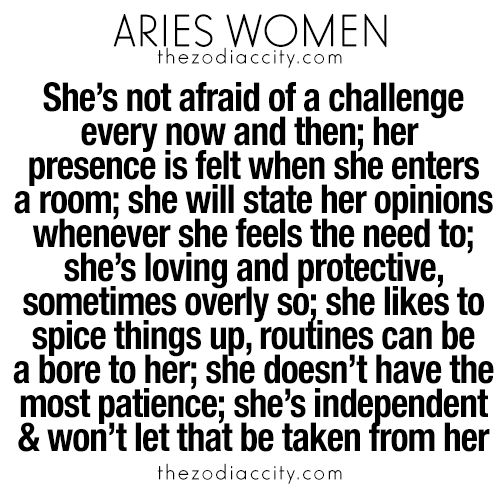 What you need to know about Aries women. For more zodiac fun facts, click here.