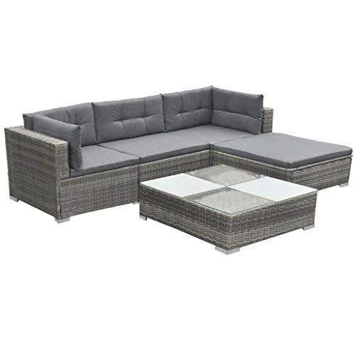 Garden Sofa Set 14 Pieces Poly Rattan Gray Patio Lounge Set Designed To Be Used Design Garden Sof Polyrattan Lounge Set Lounge Mobel Polyrattan Lounges