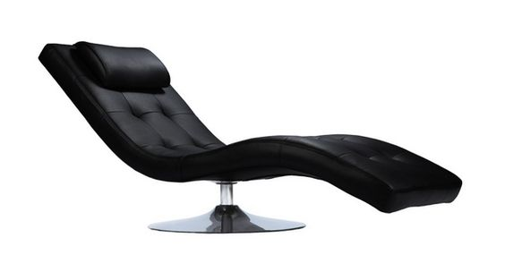 Une chaise longue de relaxation au design affirm lev e for Chaise un pied