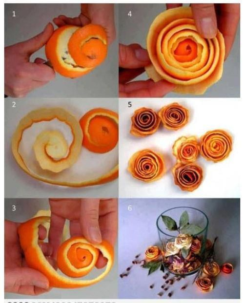 Aromatizando a casa com cascas de laranja