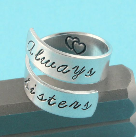 Always Sisters Wrap Twist Ring - love this for my girls!!!!!
