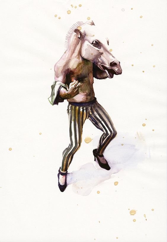 Horsehead (A4 watercolour on paper)