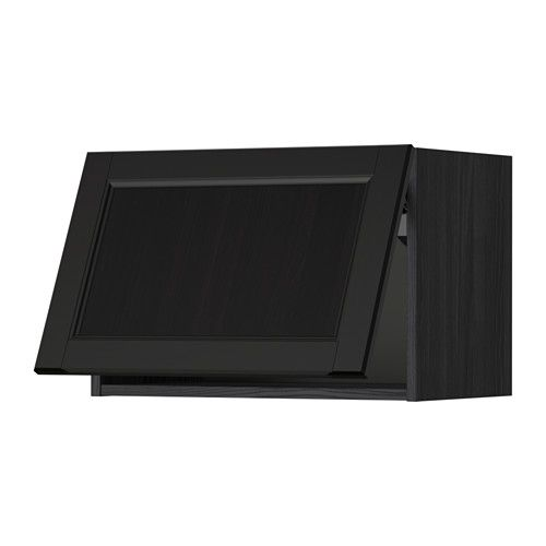 metod l mur horiz effet bois noir cm laxarby brun noir ikea - Cuisine Bois Noir Ikea