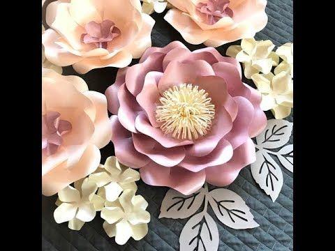 Wild Rose Paper Flower Free Video Tutorial How To Make Paper Flower Diy Paper Large Paper Flowers Diy Large Paper Flowers Diy Tutorials Giant Paper Flowers Diy