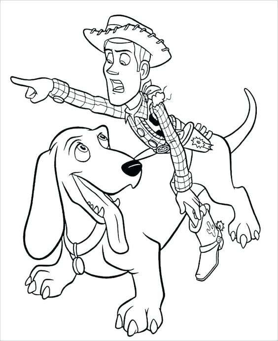 Toy Story 4 Coloring Pages Best Coloring Pages For Kids Toy Story Coloring Pages Cartoon Coloring Pages Dog Coloring Page