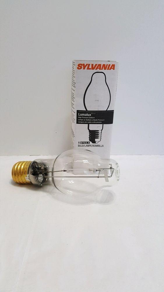 One Sylvania Lumalux 100watt Et23 5 S62 High Pressure Sodium Bulb Lamp 70 Watt Sylvania Bulb Sylvania Ebay