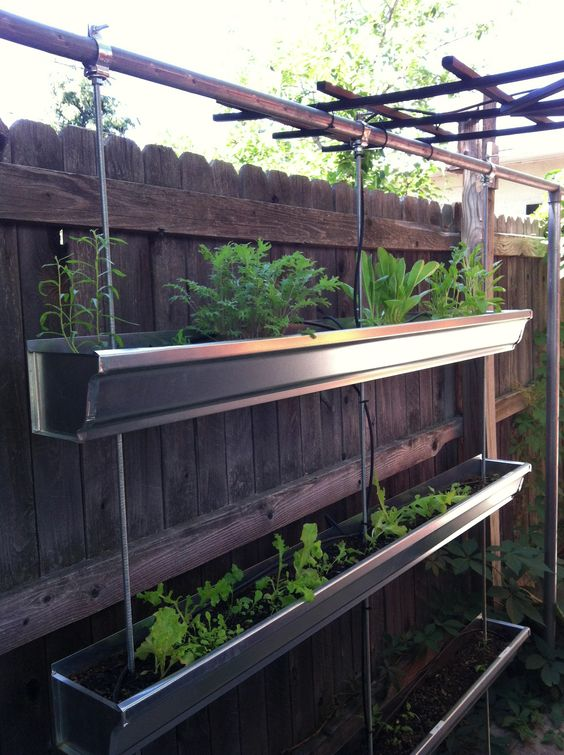 Gutter Beds For Herbs And Greens Water Drip System