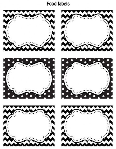 FREE Black & White Printable Labels | Free printables, Offices and ...
