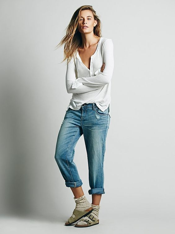 Free People Low Rise Relaxed Skinny at Free People Clothing Boutique