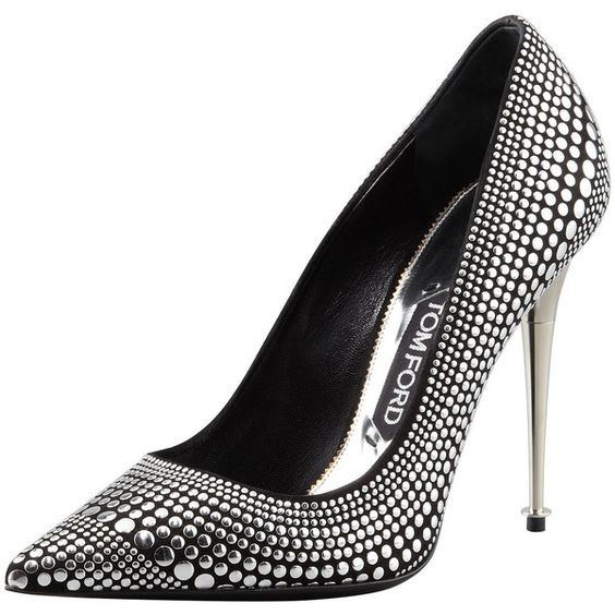 Women's Studded Suede Pointy-Toe Pump - Tom Ford