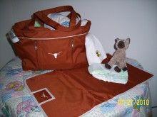 Longhorn diaper bag