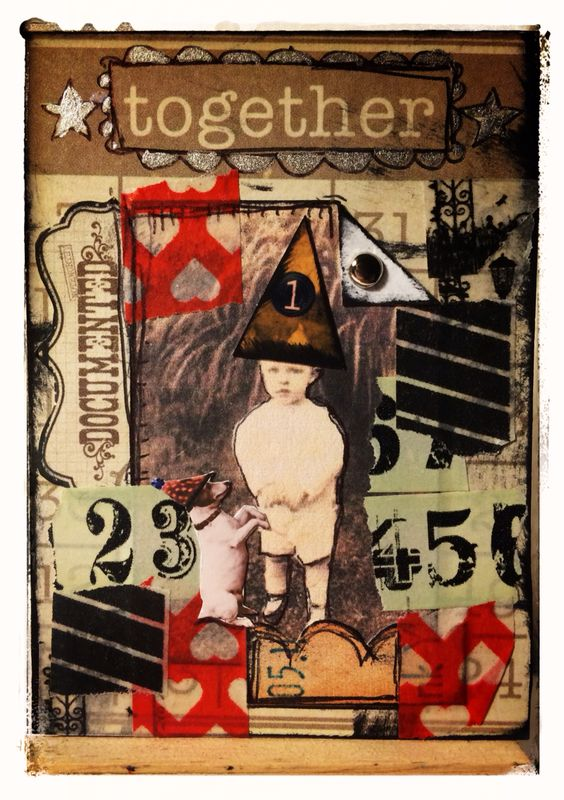 ATC created for Retro Cafe Art Gallery DT -boy from Witches collage sheet cv54 -washi tapes