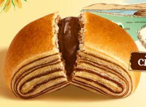 saccottini per la base: - 330g di farina manitoba - 170g di farina 00 - 100+250g di burro - 60g di zucchero - 220ml di acqua - 10g di sale - un cubetto di lievito di birra  per il ripieno: - 170g di cioccolato a scelta  - uova e latte per spennellare