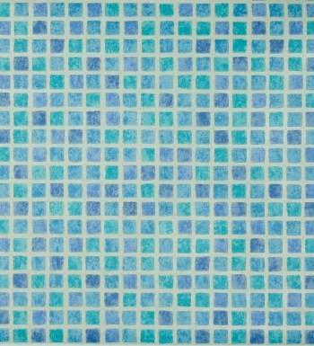 Papel pintado gresite para ba os azul y verde agua - Papel pintado para banos ...