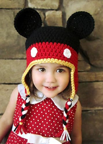 Ravelry: Mickey Mouse Crochet Hat pattern by Kelli Lund: