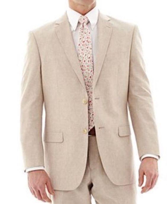 Stafford signature linen blend sport coat jacket - size 46 short