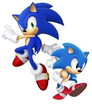 Sonic and Classic Sonic....HECK YEAH!