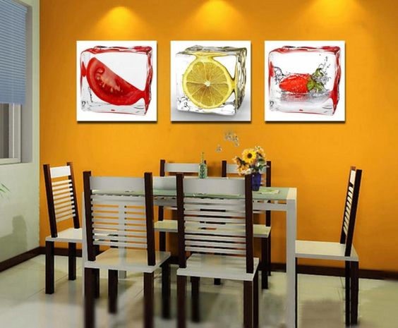 wholesale 3 piece fruit wall art decor painting home kitchen decorating ideas modern wall frameless hanging modern paintings $17.40