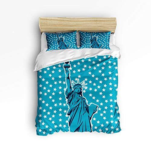 New Luxury Star Duvet Cover 3 Piece Bedding Set 1 Quilt Cover 2 Pillow case