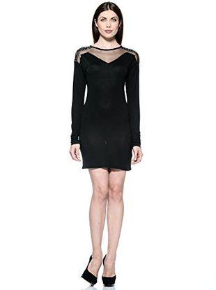 Annarita N Vestido Larga (Negro)