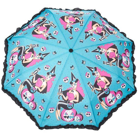 Witchy Gal Umbrella from Sourpuss at Beadesaurus