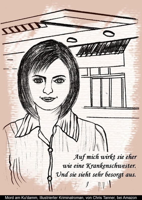 "Junge Kellnerin. ""Mord am Ku'damm"". Illustrierter Kriminalroman. / Young waitress. ""Murder on the Kurfürstendamm"". Illustrated detective novel. www.gutenachtgeschichten24.com"