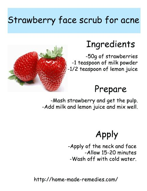 Strawberry face scrub for acne