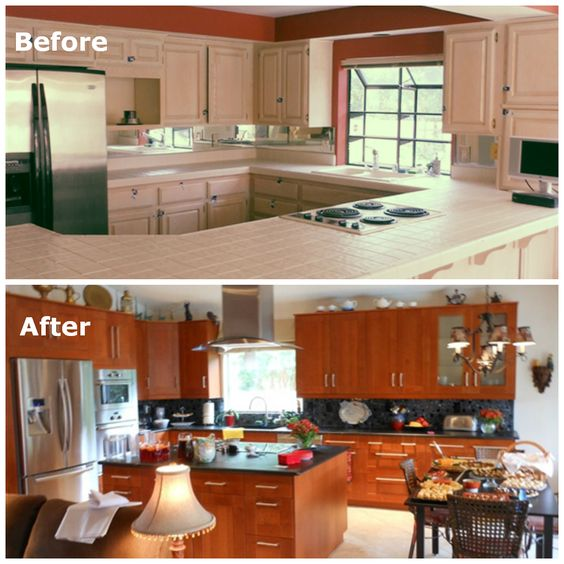 This ikea fan updated her old kitchen cabinets with the for Adel kitchen cabinets