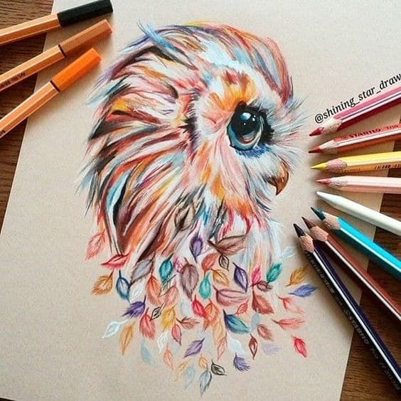111 Fun And Cool Things To Draw Right Now Drawings Owls Drawing Cool Drawings