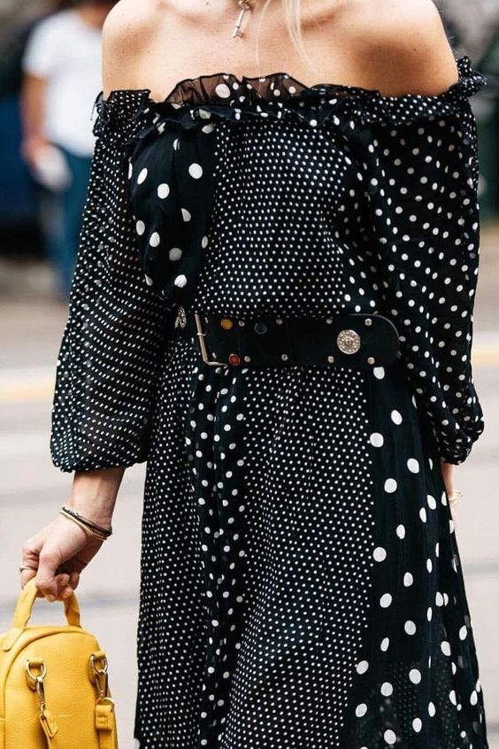 #black and white #polka dots