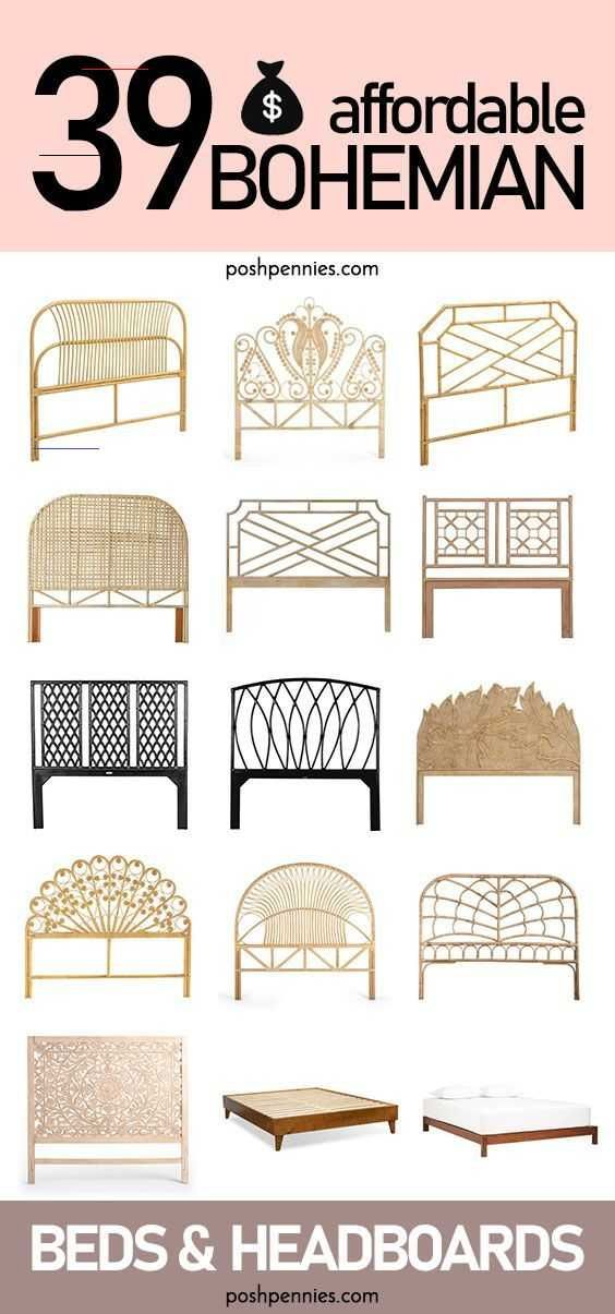 The Best Affordable Boho Beds And Headboards Rattan And Wood Posh Pennies I Found All The Best Looking And Most Affordable B 2020 Boho Style Bedroom Boho Bedding