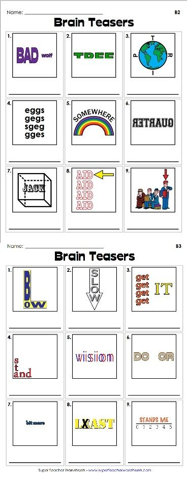 Brain Teasers For High School Students Pdf   brain teasers