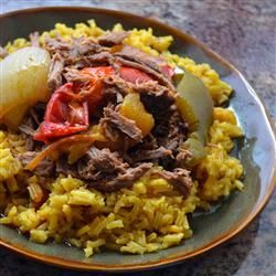 "Ropa Vieja in a Slow Cooker | ""Made this last night. So yummy!!! Husband and I both loved it. I didn't make any changes to the recipe at all. We only added a little more salt after the fact."""