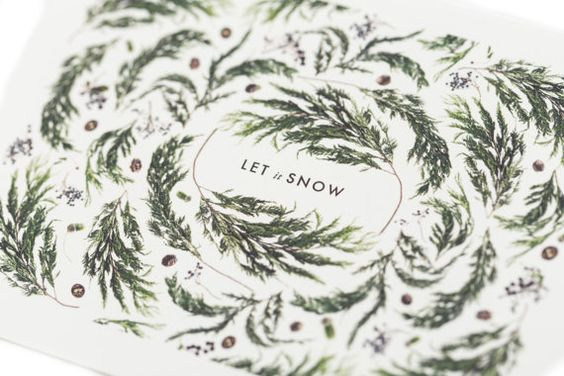Let it Snow Christmas card by HouseThatLarsBuilt on Etsy