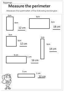 Measure The Rectangle Perimeter Worksheet Perimeter Worksheets Area And Perimeter Worksheets Mathematics Worksheets