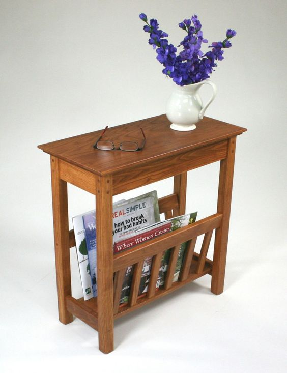 Small side table with magazine rack the simple but very for Very small side table