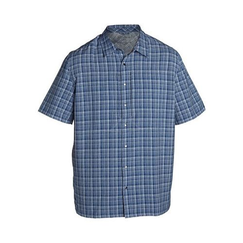 Propper Covert Button-Up Short Sleeve Shirt Uniform Police Mens Light Blue Plaid