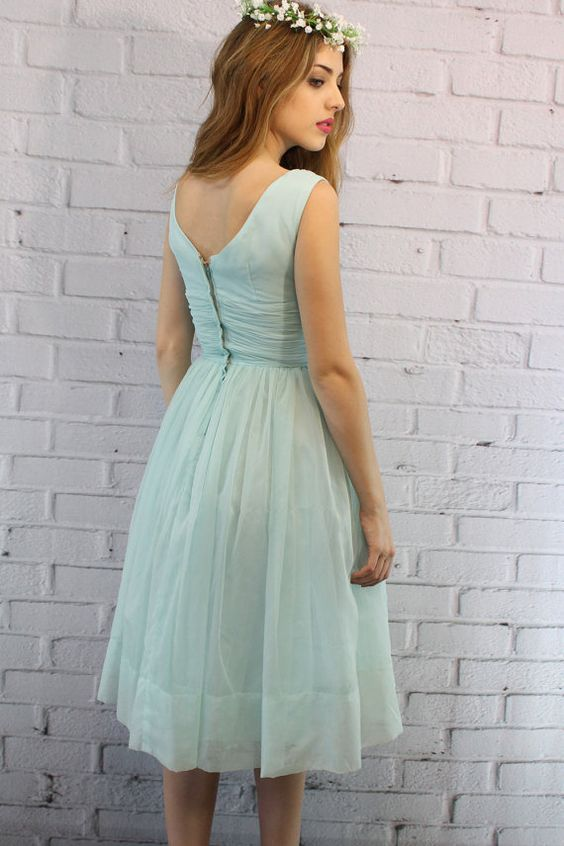 50's Dress XS / 1950s Sheer Corset Dress / The von CrushVintage, $122.00
